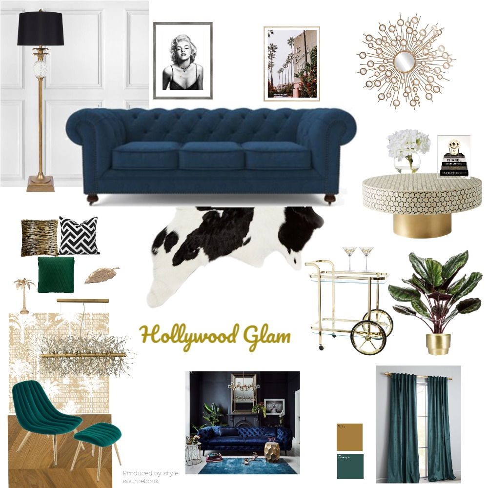 Hollywood glam Interior Design Mood Board by dthiele on Style Sourcebook
