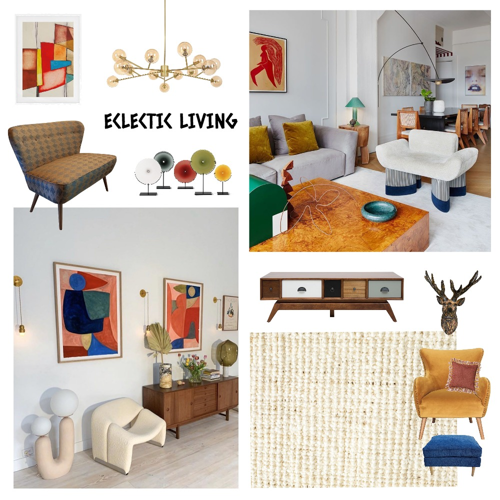 Eclectic Living Interior Design Mood Board by Ciara Kelly on Style Sourcebook