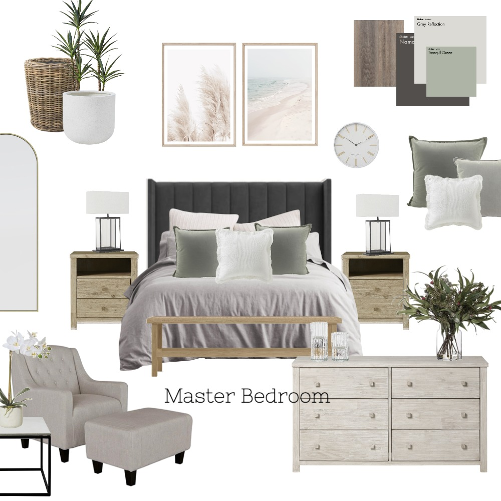 Master Bedroom Interior Design Mood Board by January Made Design on Style Sourcebook