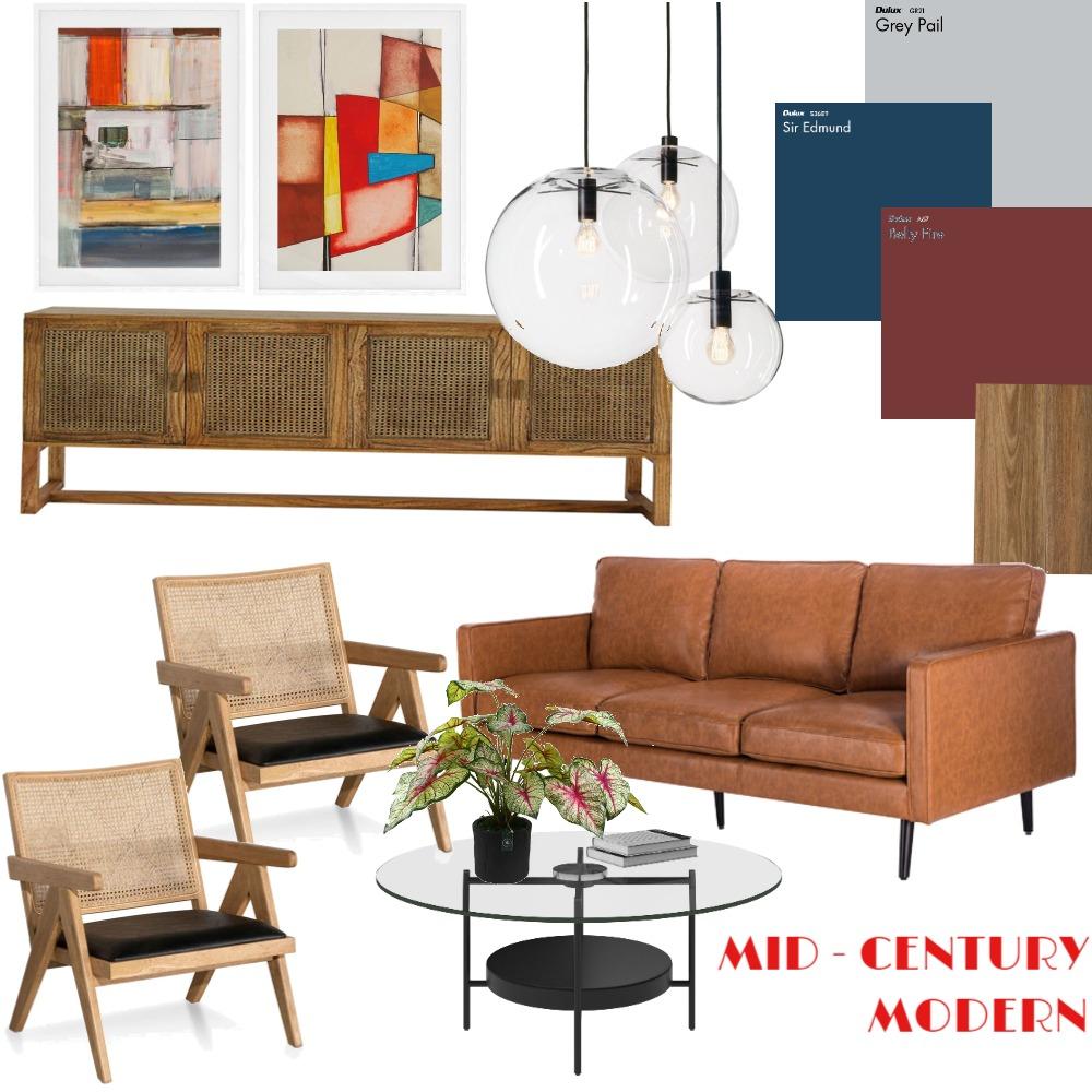 Mid-Century Modern Interior Design Mood Board by Niravone on Style Sourcebook