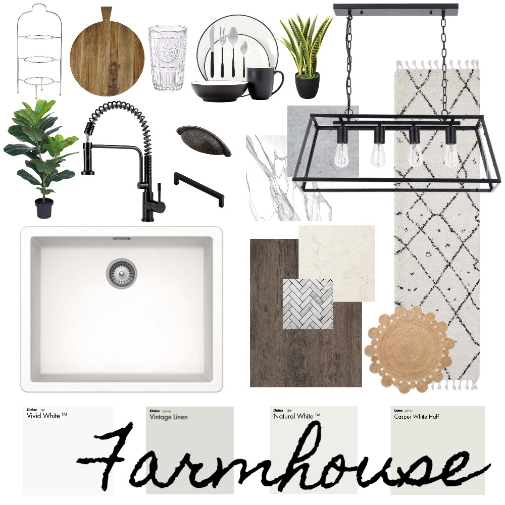 Farmhouse - Kitchen Interior Design Mood Board by Haven Home Styling on Style Sourcebook