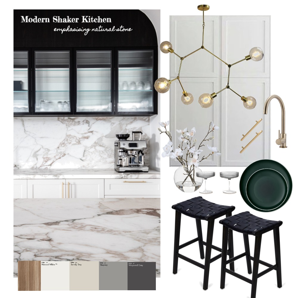 Modern Shaker Kitchen Interior Design Mood Board by amygurr on Style Sourcebook