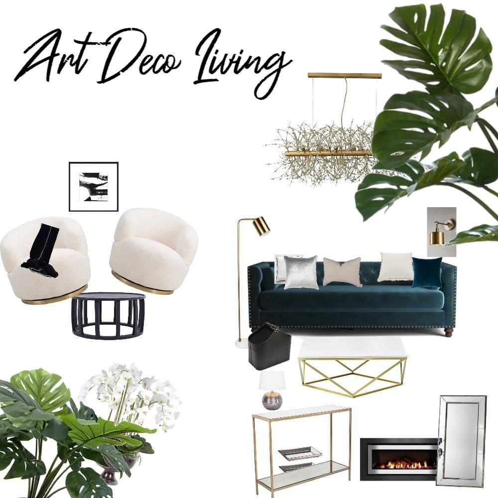 Art Deco Living Interior Design Mood Board by Jasmeen on Style Sourcebook
