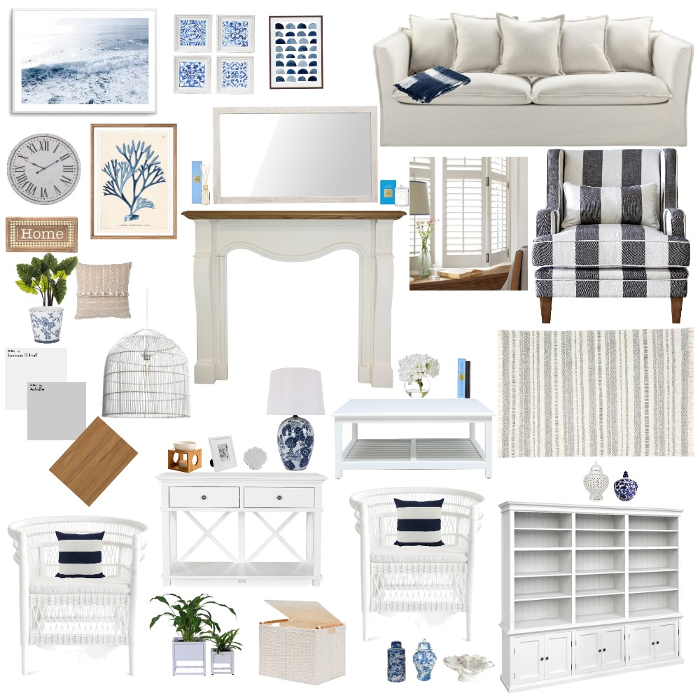Hamptons Interior Design Mood Board by nessab on Style Sourcebook