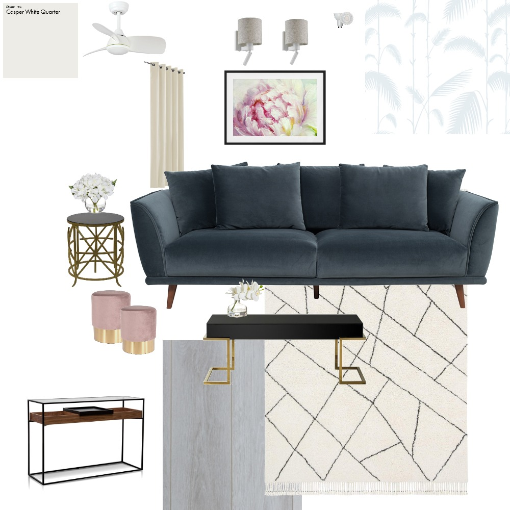 TV Room Interior Design Mood Board by Interior Luxe by Farheen on Style Sourcebook