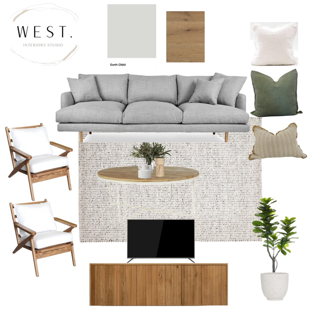 Shoalwater Living Interior Design Mood Board by WEST. Interiors Studio on Style Sourcebook