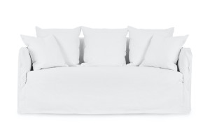 Bronte Coastal 2 Seat Sofa White Fabric by Lounge Lovers by Lounge Lovers, a Sofas for sale on Style Sourcebook