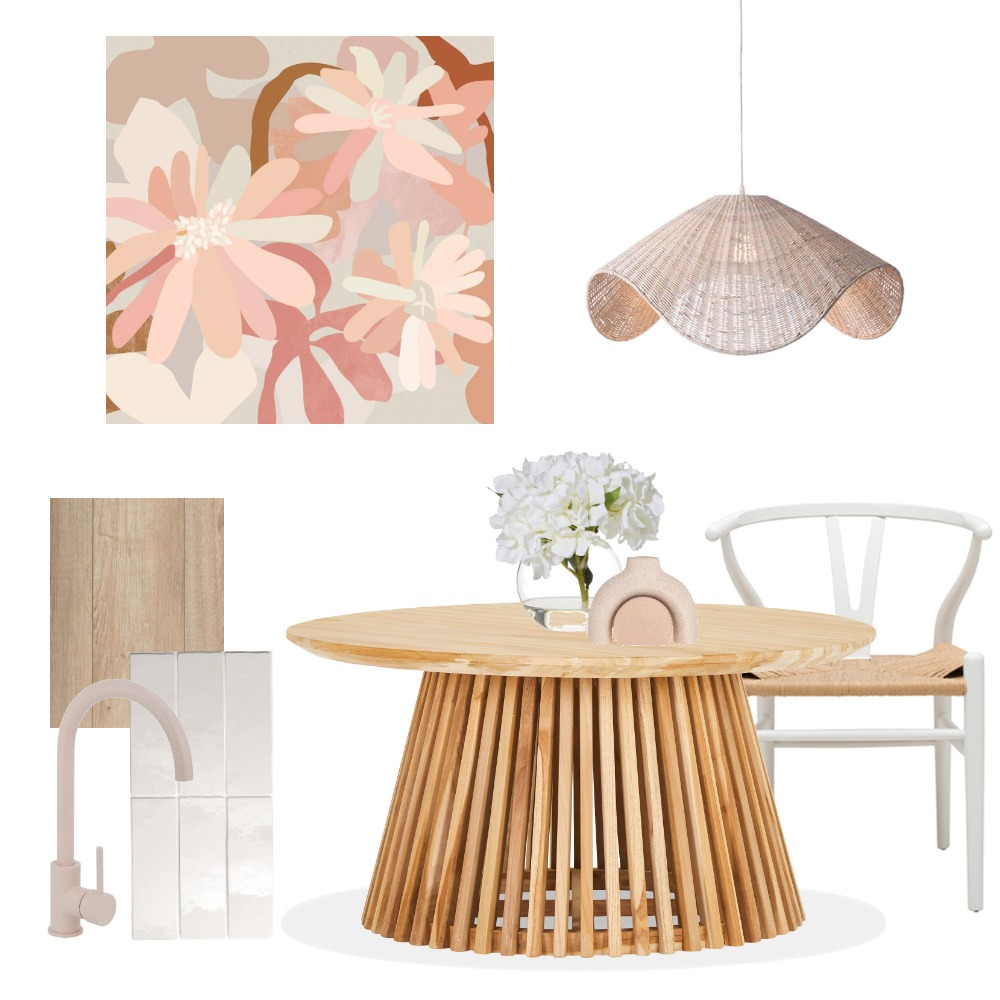 Kimmy Hogan Inspired Dining Interior Design Mood Board by Vienna Rose Styling on Style Sourcebook