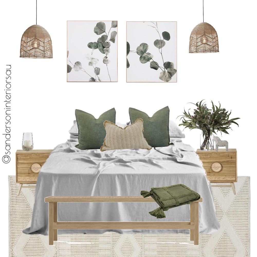 Australian boho with sage green Interior Design Mood Board by Sanderson Interiors AU on Style Sourcebook
