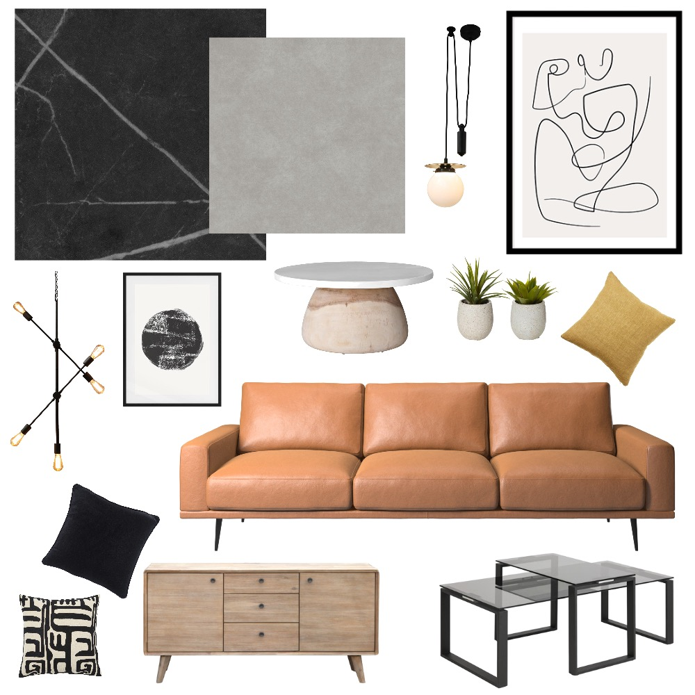 Retro Living Room Interior Design Mood Board by michaeldarnell on Style Sourcebook