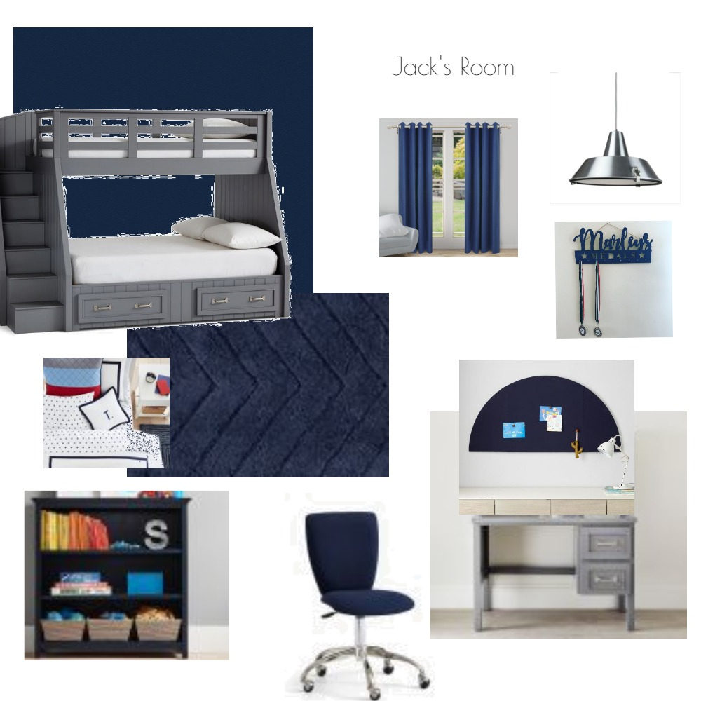 Jack's Bedroom Interior Design Mood Board by Jelle Decoration on Style Sourcebook