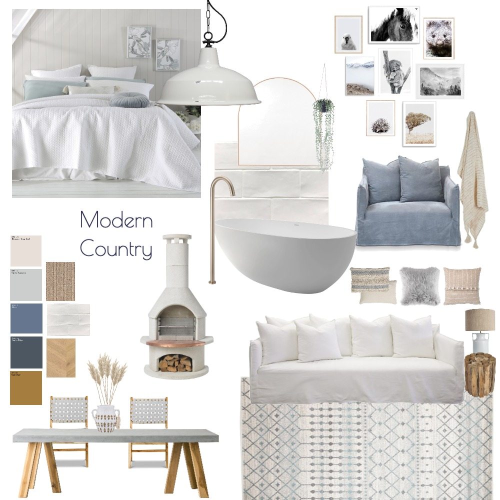 Modern Country Interior Design Mood Board by Project M Design on Style Sourcebook
