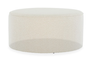 Eloise Boucle Ottoman Ivory by Lounge Lovers by Lounge Lovers, a Ottomans for sale on Style Sourcebook