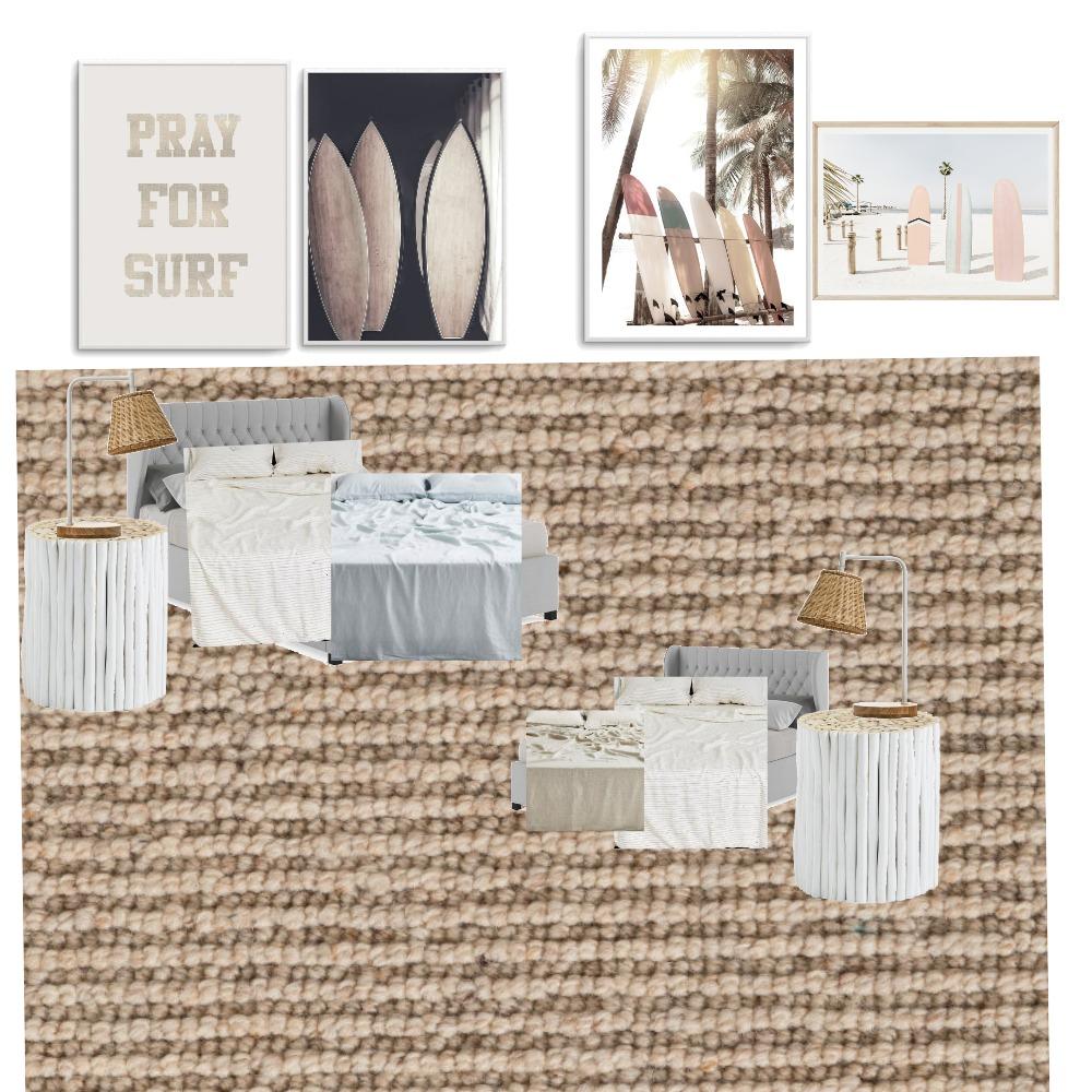 Surf bedroom Interior Design Mood Board by Wivi on Style Sourcebook